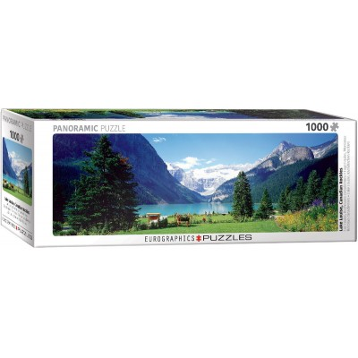 CASSE-TÊTE EUROGRAPHICS- 1000 PCS- LAKE LOUISE-PANORAMIQUE